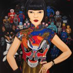 """Archibald Prize finalist """"Claudia, Spartacus and the Robots"""" by Kate Beynon"""