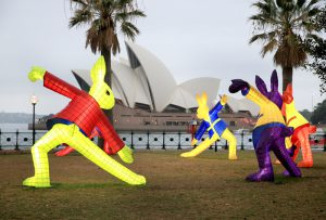 Claudia Chan Shaw Rabbit Lantern. 2017 Chinese New Year Lantern Tour from Dawes Point to the Opera House, 1st February 2017. Photo by Damian Shaw / City of Sydney