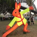 Tai Chi Rabbit lantern by Claudia Chan Shaw. Sydney Chinese New Year 2017