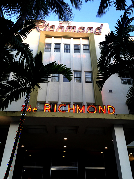The Richmond Miami. Photo courtesy Liz Gibson