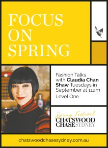 Chatswood Chase Sydney Spring Fashion Lecture Series